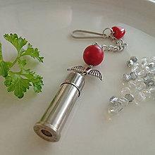 Kľúčenky - valentínsky prívesok s anjelikom - 10355026_