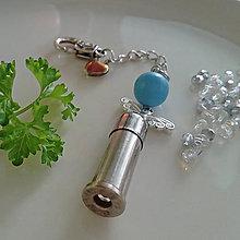 Kľúčenky - valentínsky prívesok s anjelikom - 10355034_