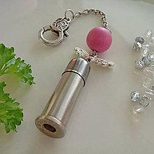 Kľúčenky - valentínsky prívesok s anjelikom - 10355056_