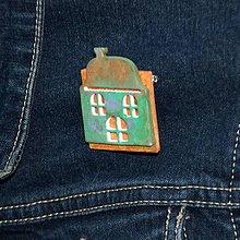 Odznaky/Brošne - Brošňa Vintage domček - 10353250_