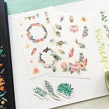 Papier - papierové nálepky Veľryby a kvety - 2 hárky - 10351613_