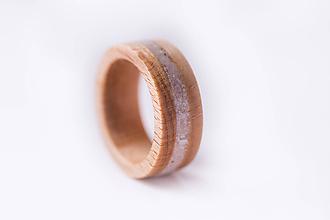 Prstene - Drevený prsteň - buk + kremeň - 10351748_