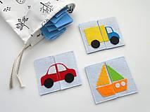 Hračky - Montessori pexeso: dopravné prostriedky (8 párov) - 10351593_