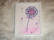 A5-Obrázok,pohľadnica -Mandalkový kvet