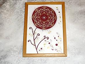 Obrazy - A5-Obrázok,pohľadnica - Mandala kvet - 10355024_