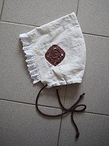 Detské čiapky - Ľanový čepček od babičky I. - 10354318_