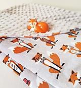 Textil - Detská minky deka líštičky - 10352170_