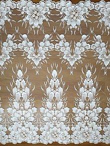 Textil - Exkluzívna svadobná krajka - 10352279_