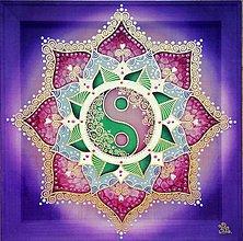 Obrazy - Mandala...Harmónia dvoch sŕdc - 10351266_