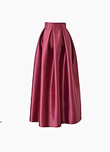 - Maxi sukňa z lesklého saténu  (obvod pásu od 81-90cm) - 10353598_