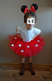 Detské súpravy - Minnie Mouse tutu s čelenkou - 10351609_