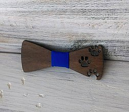 """Detské doplnky - Detský drevený motýlik """"Labky"""" tmavý - 10352337_"""