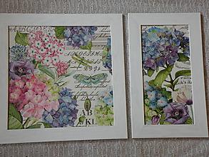Obrázky - Originální sada obrázků - Hortenzie s motýlem - 10354246_