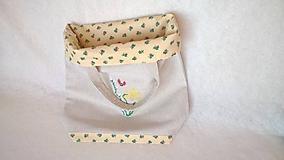Nákupné tašky - Textilná ľanová taška - 36x34 cm - 10352259_