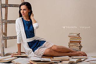 Šaty - Kolekcia Inšpirácie - modrotlač - 10351862_