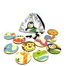 Hračky - Drevené magnetky - ZVIERATKÁ ZOO - 10351498_