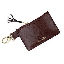 Peňaženky - Kožená kľúčenka/peňaženka MARATHON - červená (Bordová) - 10351746_
