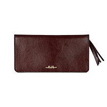 Peňaženky - Dámska kožená peňaženka veľká MARIMA  (Bordová) - 10352097_
