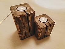- Drevený masívny svietnik (set) - 10351590_