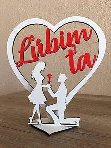 Dekorácie - Valentínske vyznanie lásky - 10351337_