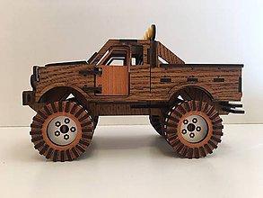 Hračky - Drevené auto MONSTER TRUCK s personalizovanou ŠPZ - 10351339_