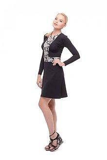 Šaty - Krátke šaty na zips čierne - 10353292_