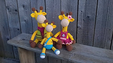 Dekorácie - Žirafia rodinka - 10353006_