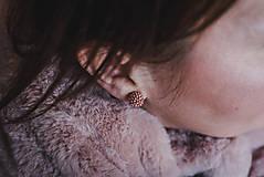 Náušnice - EARBERRIES Rose Gold zapichovačky - 10351372_