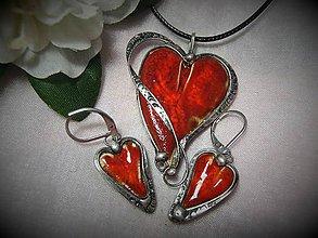 Sady šperkov - keramika ...srdiečko - 10352797_