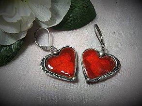 Náušnice - náušnice srdce... - 10352832_