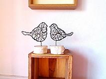 Socha - vtáčik v brezovom drievku I. - 10351732_