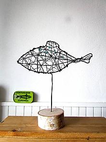 Socha - rybka smaragdová - 10354236_