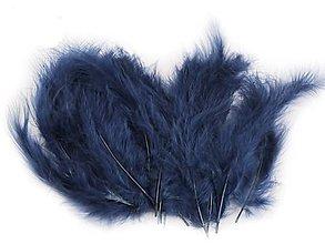 Suroviny - Pštrosie perie 20 ks (tmavá modrá) - 10351610_