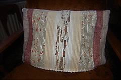 Úžitkový textil - Tkaná obliečka na vankúš maslovo-hnedá - 10351551_