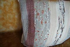 Úžitkový textil - Tkaná obliečka na vankúš maslovo-hnedá - 10351555_