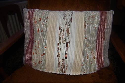 Tkaná obliečka na vankúš maslovo-hnedá