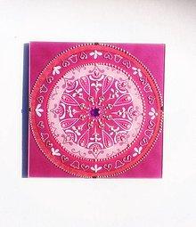 Obrazy - IHNEĎ! Mandala liečivá lásková  - ružové slnko - 10355791_