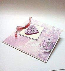 Papiernictvo - Pohľadnica ... srdečná ruža - 10358437_