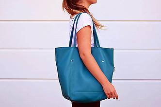 Veľké tašky - Ala (taška) petrolejovo-tyrkysová - 10355746_