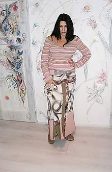 Sukne - lel, bohemian sukňa patchwork - 10356532_