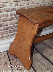 Nábytok - Šamlík oblúk - JASEŇ kartáčovaný,lak (ČEREŠŇA) - 10358353_