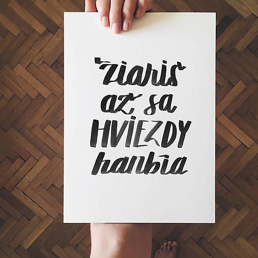 Žiariš - typografia