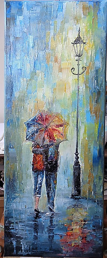 Obrazy - Pod dáždnikom... - 10358138_