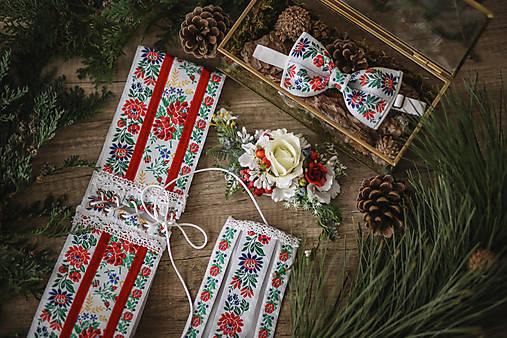 Spoločenský/svadobný biely folk set pre neho a pre ňu