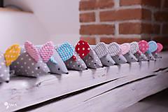 Hračky - Myška s malinovými uškami - 10355559_