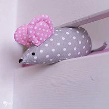 Hračky - Myška s ružovými uškami - 10356020_