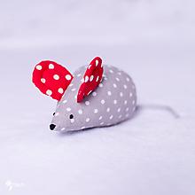 Hračky - Myška s červenými uškami - 10356573_