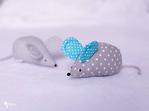 Hračky - Myška s tyrkysovými uškami - 10356883_