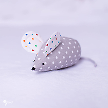 Hračky - Myška bodkovaná - 10356934_