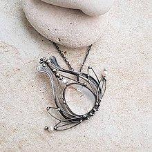 Náhrdelníky - FRANCK flower náhrdelník - 10357639_